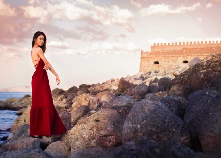 индивидуальная фотосессия на Крите, portrait photoshoot in Crete